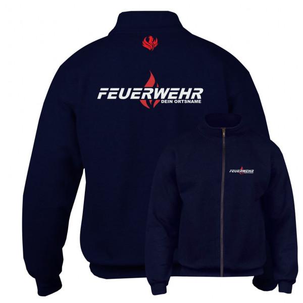 Sweatjacke I FW Flamme +Ortsname