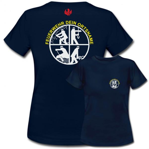 Tshirt Frauen I FW Signet +Ortsname