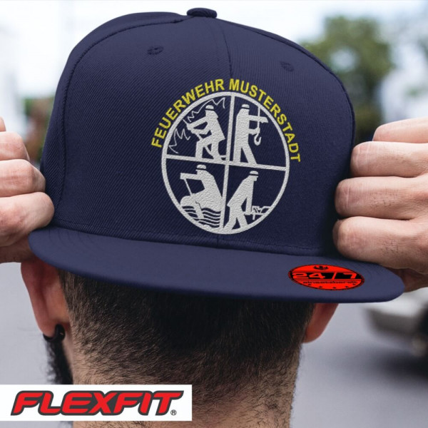 Flexfit® Snapback I Feuerwehr Signet +Ortsname