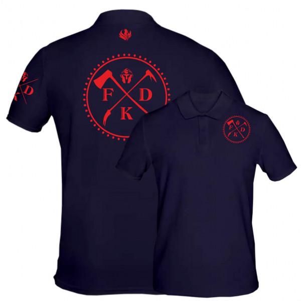 Poloshirt Männer I Firefighter +Ortsname