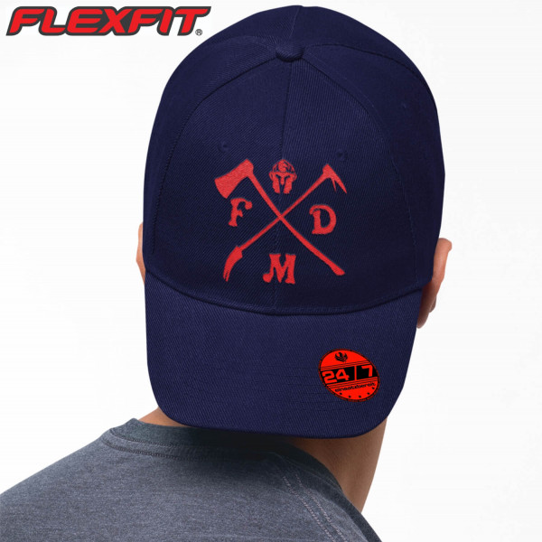 Flexfit® 5 Panel Cap I Firefighter +Ortsname