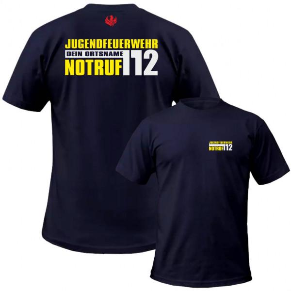 Tshirt JFW I JFW Notruf 112 +Ortsname
