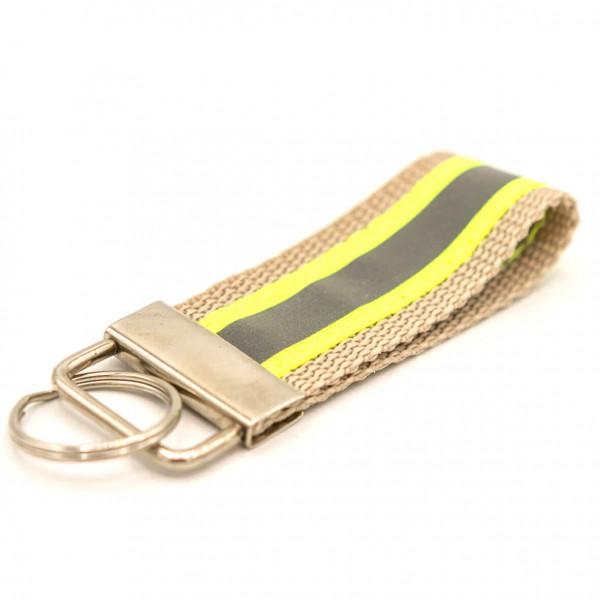 Schlüsselanhänger I Gold Gelb Reflex
