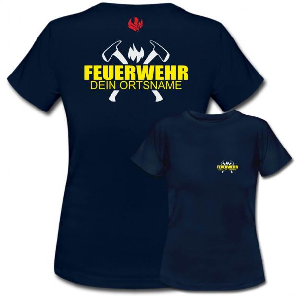 Tshirt Frauen I FW Axt +Ortsname