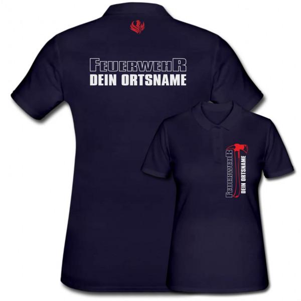 Poloshirt Frauen I FW Axt +Ortsname