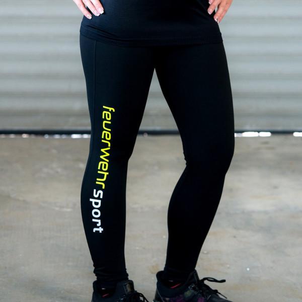 Feuerwehr I Sport-Leggings Frauen Schwarz