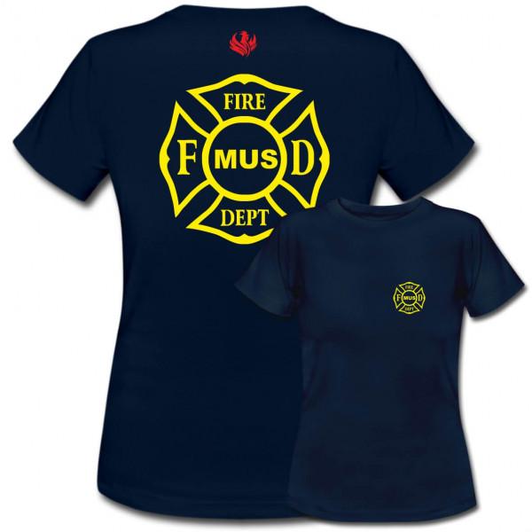 Tshirt Frauen I Fire Dept. Cross