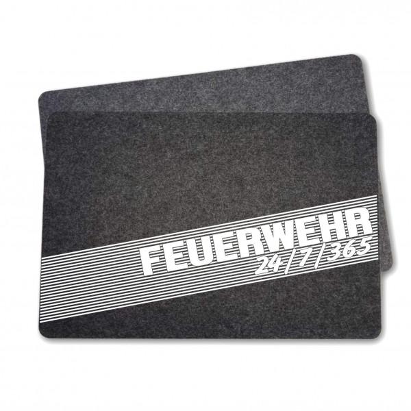 Feuerwehr Filz Tischset I 24/7/365