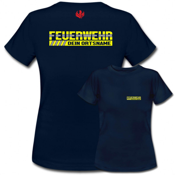 Tshirt Frauen I Feuerwehr +Ortsname